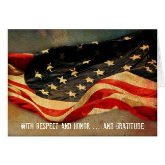 Con respecto, honor - gracias tarjeta del día de