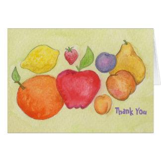 Con sabor a fruta gracias cardar tarjeta de felicitación