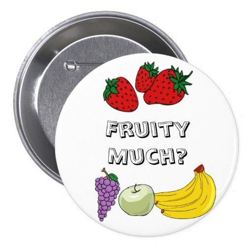 Con sabor a fruta mucho botón pin