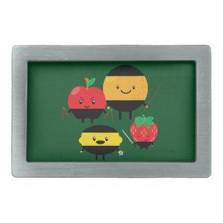 con sabor a fruta-ninjas hebilla de cinturon rectangular