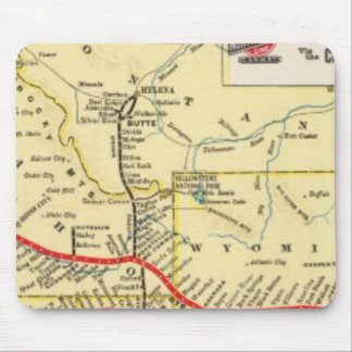 Con servicio del tren de Chicago Alfombrillas De Raton