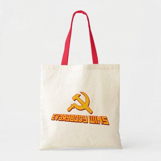 ¡Con socialismo todos gana! Sátira del gobierno Bolsas De Mano