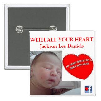 CON TODO SU CORAZÓN Jackson Lee Daniels Pin