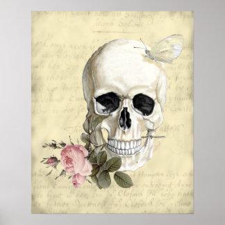 Con un color de rosa entre mis dientes póster