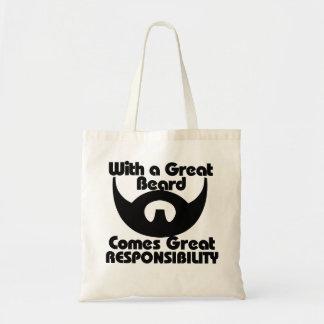 Con una gran barba viene el gran resposibility bolsa tela barata