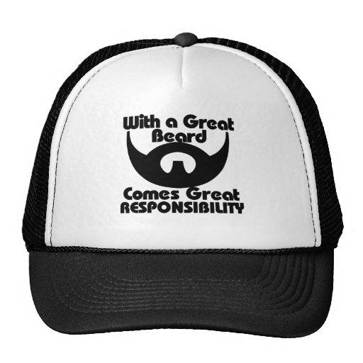 Con una gran barba viene el gran resposibility gorra