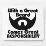 Con una gran barba viene el gran resposibility alfombrilla de raton