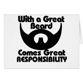 Con una gran barba viene el gran resposibility tarjeton