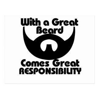 Con una gran barba viene el gran resposibility postales