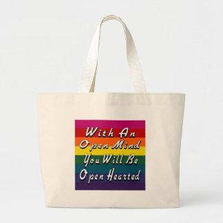 Con una mente abierta usted será Hearted abierto Bolsa