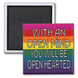 Con una mente abierta usted será Hearted abierto Imán De Nevera