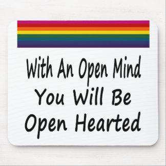 Con una mente abierta usted será Hearted abierto Alfombrillas De Raton