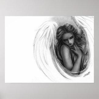 Con usted ahora poster del ángel