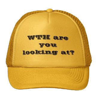 ¿CON usted está mirando? Gorras De Camionero