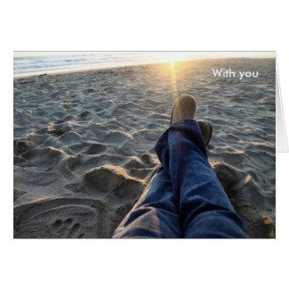 Con usted tarjeta de felicitación