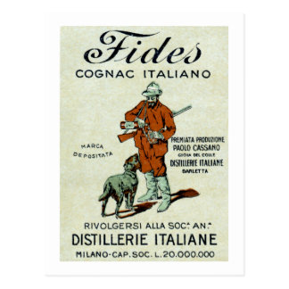 Coñac de 1905 italianos postales