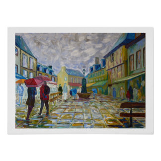 Concarneau in Brittany Poster