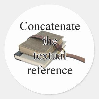 Concatenate Round Sticker