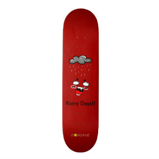 Concave-rainy days skate deck