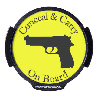 Conceal and Carry On Board LED Car Decal