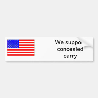 Concealed carry support bumper sticker