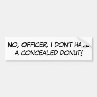 Concealed Donut Bumper Sticker