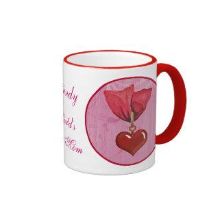 Conceda a ~ la mejor mamá cinta y corazón rojos taza de dos colores