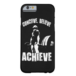 Conceive, Believe, Achieve - Workout Motivational Barely There iPhone 6 Case