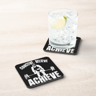 Conceive, Believe, Achieve - Workout Motivational Beverage Coaster