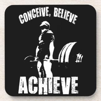 Conceive, Believe, Achieve - Workout Motivational Coaster