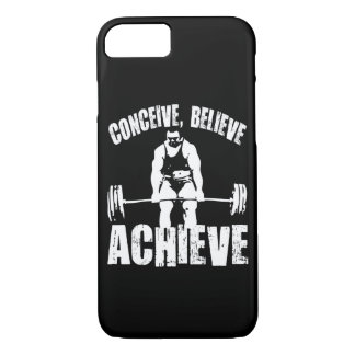 Conceive, Believe, Achieve - Workout Motivational iPhone 7 Case