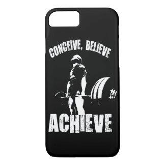 Conceive, Believe, Achieve - Workout Motivational iPhone 8/7 Case