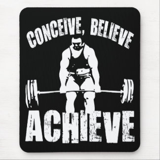 Conceive, Believe, Achieve - Workout Motivational Mouse Pad