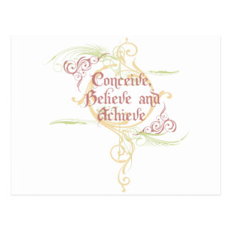 Conceive, Believe and Achieve Postcard
