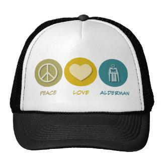 Concejal del amor de la paz gorra
