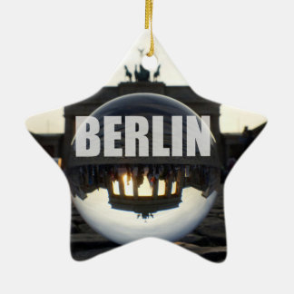 Concentras Through the crystal, Brandeburgo Gate Adorno Navideño De Cerámica En Forma De Estrella
