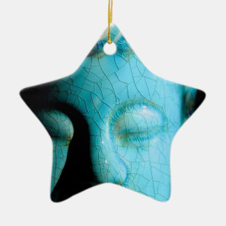 Concentrate the Mind Double-Sided Star Ceramic Christmas Ornament