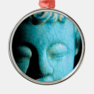 Concentrate the Mind Round Metal Christmas Ornament