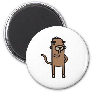 Concentrating Monkey 2 Inch Round Magnet