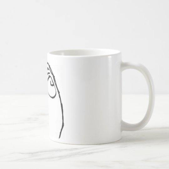 Concentrating Rage Face Coffee Mug