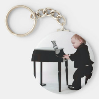 Concentration Basic Round Button Keychain
