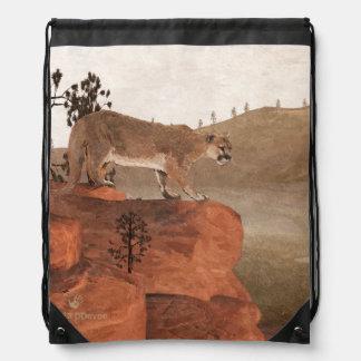 Concentration - Cougar Drawstring Backpacks