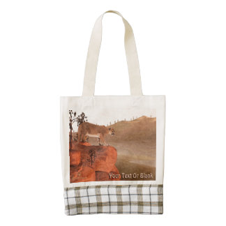 Concentration - Cougar Zazzle HEART Tote Bag