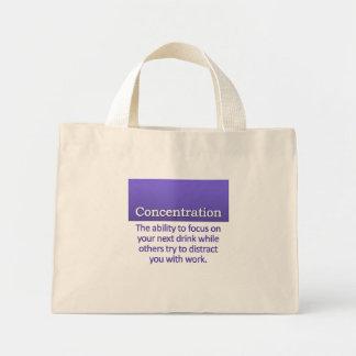 Concentration Definition Mini Tote Bag