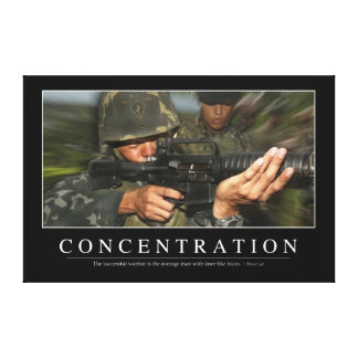 Concentration: Inspirational Quote Canvas Print