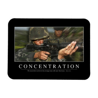 Concentration: Inspirational Quote Magnet