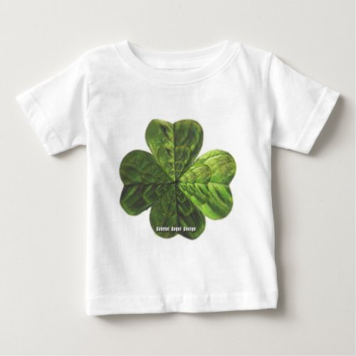 Concentric 4 Leaf Clover Baby T_Shirt