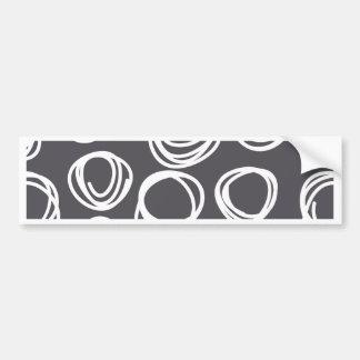 Concentric Abstract Circles Car Bumper Sticker