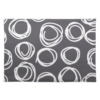 Concentric Abstract Circles Cloth Placemat