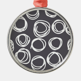 Concentric Abstract Circles Round Metal Christmas Ornament